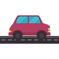 car vehicle sedan icon vector illustration design