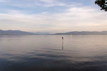 Idyllic view of Lindau, Bodensee, in South Germany