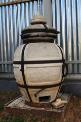 A tandoor - an east ceramic furnace for cooking outdoors