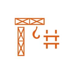 crane icon vector illustration. Flat design style