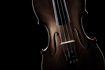 Violin closeup music instrument orchestra Violin strings close up