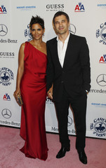 Actress Berry and boyfriend Martinez arrive at the Carousel of Hope Ball in Beverly Hills