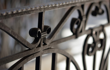 Fototapeta Wrought iron railings and handrail obraz