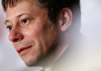 "Cast member Mathieu Amalric attends a news conference for the film ""La Venus a la Fourrure"" during the 66th Cannes Film Festival"