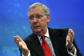 McConnell speaks at the Wall Street Journal's CEO Council meeting in Washington
