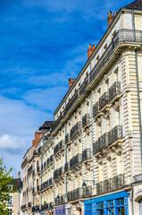 Historic buildings in Nantes, France