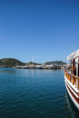 Boats docked at Kekove