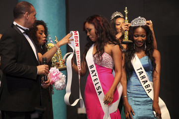 Nduka is crowned after she was announced the winner at the 24th edition of the Most Beautiful Girl in Nigeria(MGBN) beauty pageant in Lagos