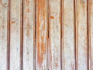 vertical old grungy brown wood plank wall texture background