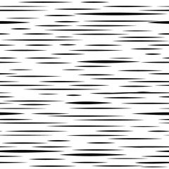Abstract irregular stripe line seamless pattern. Black and white grunge texture.