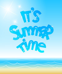 It's summer time poster