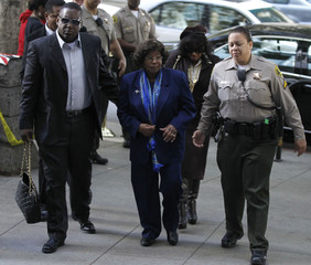Michael Jackson's mother Katherine and sister Rebbie arrive for the arraignment of Doctor Conrad Murray in Los Angeles