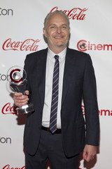 Director Francis Lawrence poses with his CinemaCon Director of the Year Award during The CinemaCon Big Screen Achievement Awards at Caesars Palace in Las Vegas