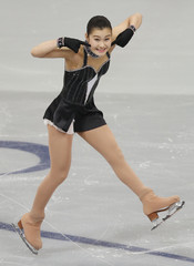Murakami of Japan performs during the ladies short program at the ISU Grand Prix of Figure Skating Rostelecom Cup in Moscow