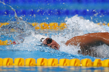 Denmark's Friis swims in the women's 800m freestyle heats during the World Swimming Championships in Barcelona