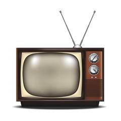 vintage retro tv. vector illustration