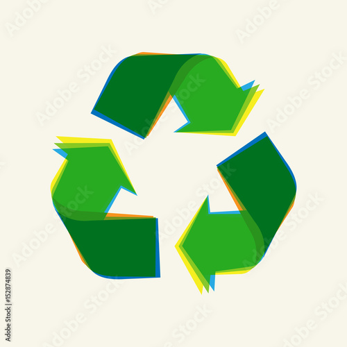 Recycling Sign Vector Illustration Recycle Symbol Graphic Design