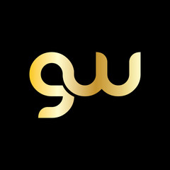 Initial Letter GW Rounded Lowercase Logo