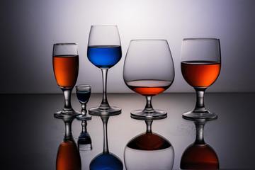 Wine Glasses reflection
