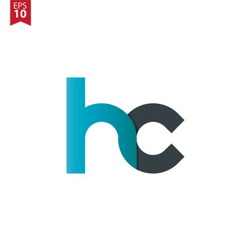 Initial Letter HC Rounded Lowercase Logo