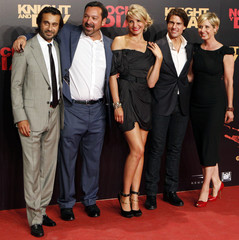 """Cast members pose during the world premiere of their film """"Knight & Day"""" in Seville"""