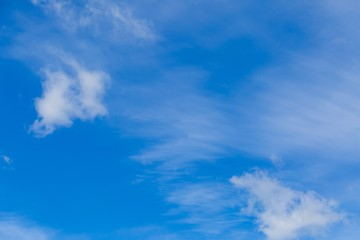 Beautiful blue sky with white clouds background