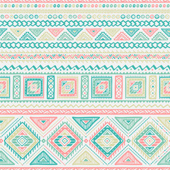 Ethnic Style Vector Seamless Pattern