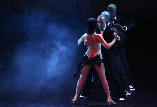 """Colombia dance group """"Swing Latino"""", five-time World Salsa champions, presented their show in Bogota"""
