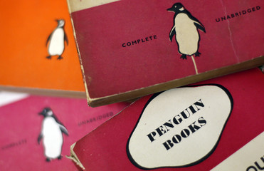 File photo of Penguin books in a used bookshop in central London
