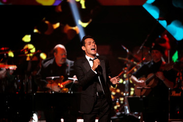 Recording artist Anthony performs after accepting the Latin Recording Academy Person of the Year award in Las Vegas