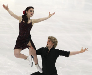 Davis and White of the U.S. perform during the ice dance short dance program competition at the ISU Four Continents Figure Skating Championships in Taipei