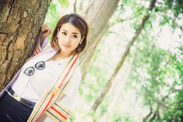 congratulation portrait by asian girl