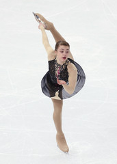 Brazil's Isadora Williams competes during the Figure Skating Women's Short Program at the Sochi 2014 Winter Olympics