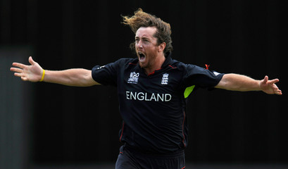 Sidebottom celebrates after dismissing Watson during the final of the ICC World Twenty20 tournament at Kensington Oval in Bridgetown.