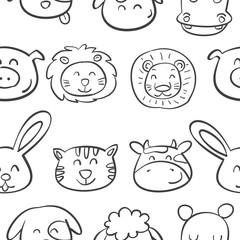 Pattern animal head very cute