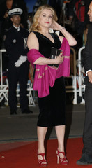 """Actress Catherine Deneuve arrives for the screening of the film """"Les Salauds"""" in competition during the 66th Cannes Film Festival"""