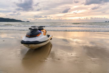 Jet ski parking on the Beach