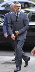 British singer George Michael arrives at Highbury Magistrates Court in central London