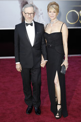 Steven Spielberg and wife Kate Capshaw arrive at the 85th Academy Awards in Hollywood