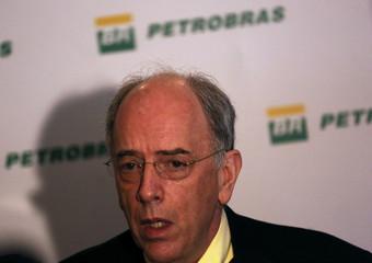 Brazil's state-run oil company Petroleo Brasileiro SA Chief Executive Officer Parente talks during a news conference in Rio de Janeiro