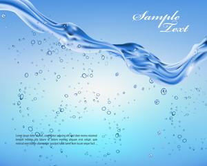 Vector splashing water background. Design element.