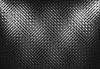 Metal sheet texture with two directional spotlight
