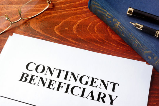 Document with title contingent beneficiary.
