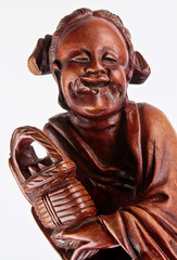 Wood Carvings Buddhist Monk
