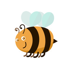 Cartoon Color Bee. Vector
