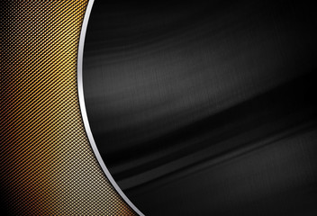 metal template with curved design background