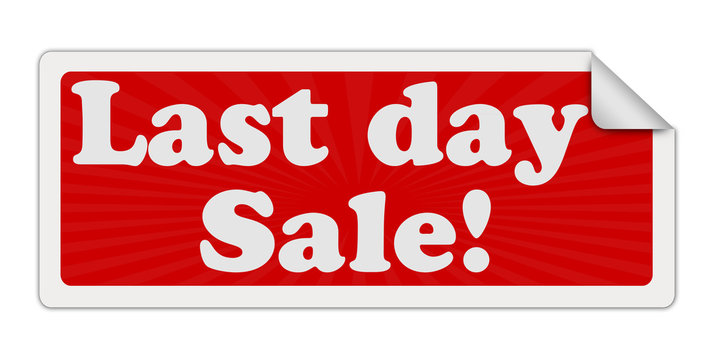 LAST DAY SALE red label