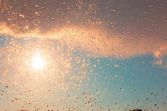 sunshine in the raindrops