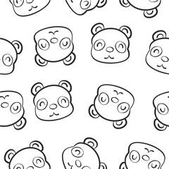 Cute animal hand draw pattern