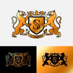 Panthers heraldic emblem